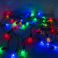 "Гирлянда светодиодная ""Шишки"", SE-CONE-540M, 5M, 40 LED, мульти (4цв.), темно-зел. шнур 0,7м"