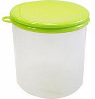 Ёмкость для сыпучих продуктов с крышкой, 0,9л, пластик, в асс. по цвету, 1/72 (7864 из короба 1