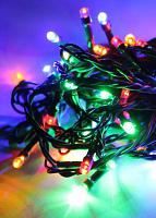 Светодиодная гирлянда КОСМОС 50 светодиодов, RGB,  6,5м, 8 режимов мигания KOC_GIR50LED_RGB
