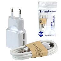 Кабель micro USB+зарядное устройство SVAF-136